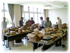 石川古書交換会の風景